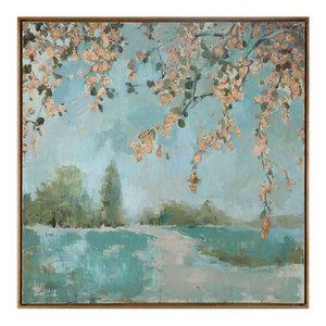 "Uttermost ""Peaceful"" Landscape Art, 36.6""x36.6"""