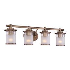 Essence 4 Light Bathroom Vanity Light in Old Satin Brass