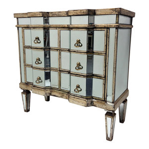 Vintage 6-Drawer Mirrored Chest