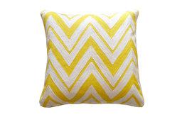 Zallie Yellow and Cream Pillow