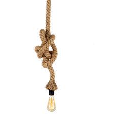 Industrial Pendant Lighting Knotty Hemp Pendant Light