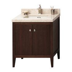 "Ronbow Sophie Solid Wood 24"" Vanity Cabinet Base, American Walnut"
