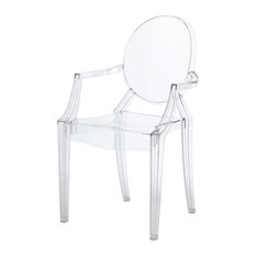 Parham Molded PC Arm Chair Transparent Crystal (set Of 2)