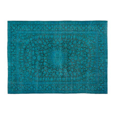 """Vintage Area Rug Turquoise 9'11""""x13'4"""" One of a Kind Persian Rug"""