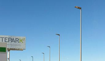 Iluminación en aparcamiento