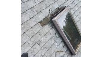 Roof Leak Skylight Repair turns into Full Roof Resheet and Interior Restorations