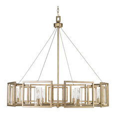 Marco 8-Light Chandelier, White Gold