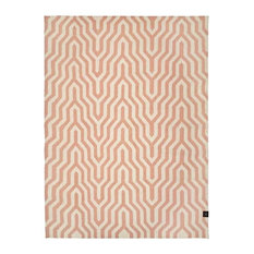 Classic Collection Optical Patterned Rug, Dusty Pink, 300x200 cm