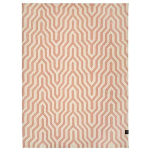 Classic Collection Optical Patterned Rug, Dusty Pink, 200x140 cm
