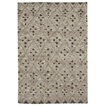 Capel Rugs - Fortress-Cobblestone Rectangle Hand Knotted, 3'x5', Tan, 5'x8' - The Cobblestone style is a member of out Fortress collection, transitional rug design from Capel Rugs.