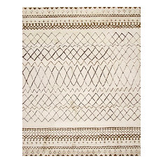 Rugsville Moroccan Beni Ourain Ivory Wool Rug 12017, Tan & Ivory, 10'x14'