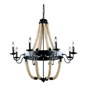 Antique Pendant Lamp With Ropes