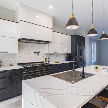 Modern Black and White Kitchen in Fairfax, VA