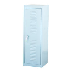 Oldschool Steel Locker Cabinet, Light Blue