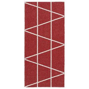 Viggen Woven Vinyl Floor Cloth, Red, 150x150 cm