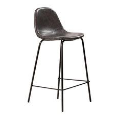 Veronica Upholstered Bar Stools, Set of 2, Black