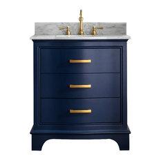 """Monroe 30"""" Bathroom Vanity, Navy Blue"""