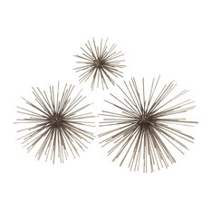 "GwG Outlet - Metal Wire Starburst Wall Decor, 3 Piece Set, 6"", 8"", 11"" - Wall Sculptures"