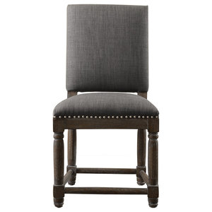 Remarkable Dining Side Chair Scroll Back Heather Gray Set Of 2 Pabps2019 Chair Design Images Pabps2019Com