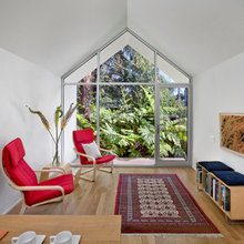 From Falling-Down Garage to Tidy Guest Quarters