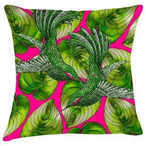 Paradise Velvet Cushion, Tropical