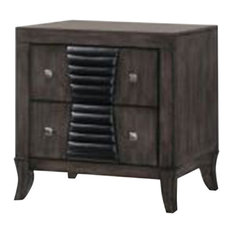 Pilaster Designs - Borne Ash Gray Wood Shaker 2 Drawer Nightstand - Nightstands and Bedside Tables