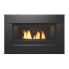 "Direct Vent Linear 36"" Gas Fireplace - Liquid Propane, Black"