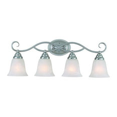 Craftmade 25004 Cordova 4 Light Bathroom Vanity Light - 28 Inches - Nickel