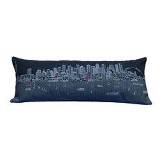 Seattle Skyline Cushion, Night, Queen