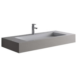 Best Contemporary Bathroom Sinks Matte White Wall Hung Stone Resin Sink