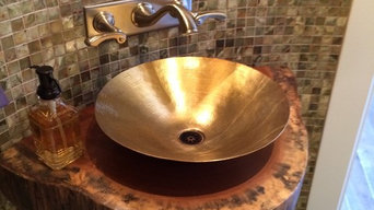 Doussie Table Top - Bathroom Countertop Design