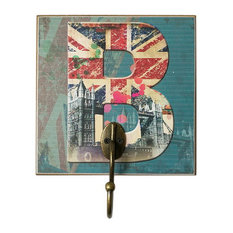 Blancho Bedding - Creative Retro Home Fitting Room Clothes Hat Key Hook, Letter B - Wall Hooks