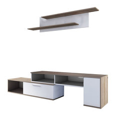 Winn TV Wall Unit, White/Nebraska