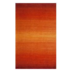 Metro Hand-Loomed Rug, Paprika, 8'x11'