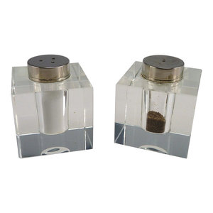 Square Salt and Pepper Shakers, Set of 2