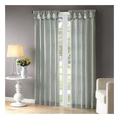 Madison Park Twist Tab Lined Window Curtain With Dusty Aqua Finish WIN40-121