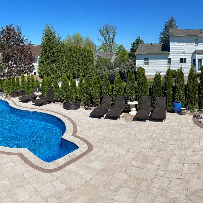 Pool patio - complete backyard transformation