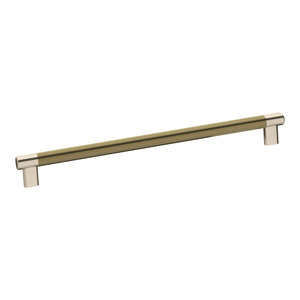 8 MNG Hardware 83814 Poise Pull with Back Plate Polished Nickel