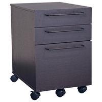3 Drawer Mobile Pedestal File Cabinet, Espresso