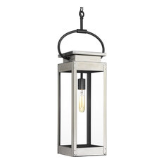 Union Square Collection 1-Light Hanging Lantern, Stainless Steel