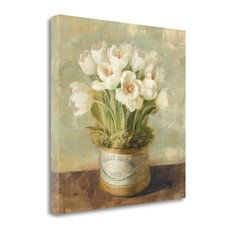 """Hatbox Tulips - Wag"" By Danhui Nai, Giclee Print on Gallery Wrap Canvas"