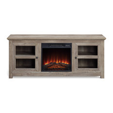 58-inch TV Stand Center Console For TV's Up To 65-inch W/ Electric Fireplace Ashland Pi