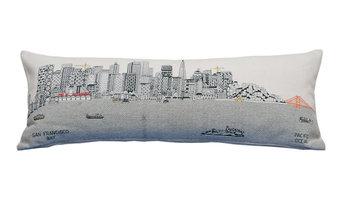 San Francisco Skyline Cushion, Day, Queen