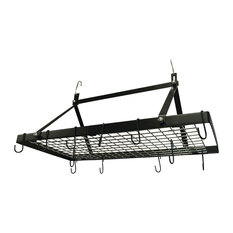 Range Kleen 18-Piece Enameled Black Rectangle Pot Rack