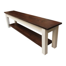 1776 Storage Bench, Shoe Rack Bench, 66""