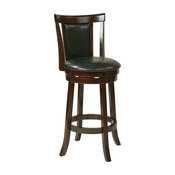 """Osp Designs Metro 30"""" Swivel Barstool In Faux Leather"""