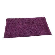 Textile Decor Of Usa Echo Spray Latex Back Cotton Bath Rug Aubergine 24
