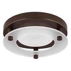 """Progress Lighting - Progress 1-Light 5.5"""" LED Flush Mount, Antique Bronze/White - Outdoor Flush-mount Ceiling Lighting"""