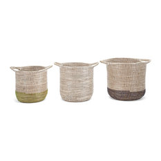 Tona Baskets With Handles, Set of 3