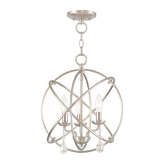 Aria 3-Light Mini Chandelier/Ceiling Mount, Brushed Nickel